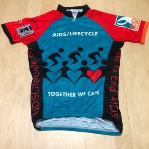 4eef444ab voler Shirts - Voler Bicycle Cycling Jersey Ride to End Aids
